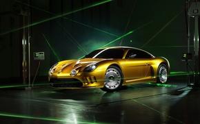 Картинка желтый, графика, Berlinetta, Willys, AW380, Viotti
