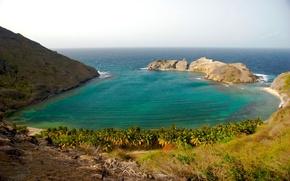 Обои rocks, coast, берег, залив, бухта, море, пейзаж sea, mountains, water, ocean, скалы, виноград