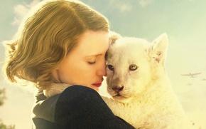 Картинка cinema, girl, lion, movie, film, Poland, World War II, womam, Jessica Chastain, Second World War, ...