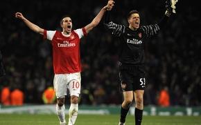 Картинка футбол, лондон, арсенал, щесны. победа, перси