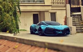 Картинка Concept, Car, Lada, Blue, Front, 2014, Raven