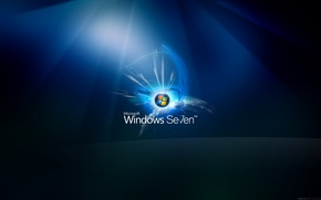 Обои windows, seven, glow