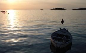 Обои море, волны, вода, мир, лодка