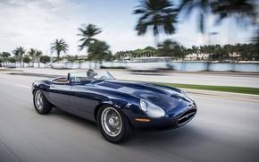 Картинка машина, скорость, Jaguar, Майами, Eagle, sportcar, Miami, speed, SPEEDSTER, E-TYPE