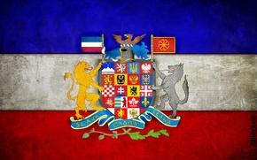 Картинка флаг, герб, панславянский