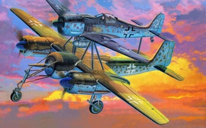 Картинка Fw-190-Mistel, Focke Wulf, Фокер
