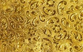 Обои фон, золото, узор, текстура, golden, background, pattern