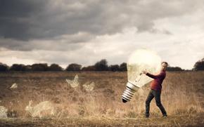 Картинка человек, лампа, Big Idea