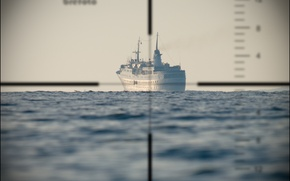 Картинка лодка, подводная, Перископ