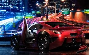Обои красный, Nissan, 350Z