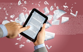 Картинка листы, книга, планшет, чтение, онлайн