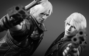 Картинка пистолет, Dante, Nero, devil may cry, capcom