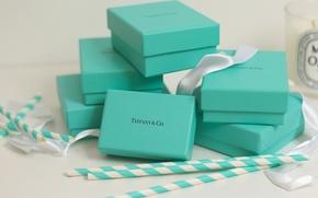 Картинка ленты, праздник, подарки, blue, коробки