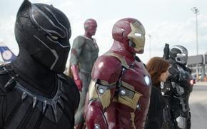 Картинка Scarlett Johansson, Скарлетт Йоханссон, Robert Downey Jr, Iron Man, Marvel, Роберт Дауни мл, Natasha Romanoff, …