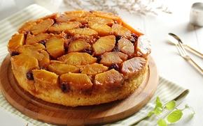 Картинка пирог, ананас, выпечка