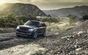 Картинка Горы, Черный, Land Rover, Range Rover, Vorsteiner, Металлик, 2014-16