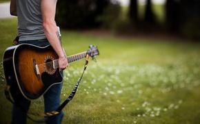 Картинка гитара, музыка, парень