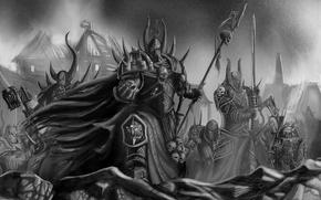 Картинка оружие, доспехи, броня, мечи, warhammer 40k, Тзинча, последователи, Тысяча Сынов, Хаоса, Орды
