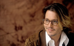 Обои Johnny Depp, очки, актер, Джонни Депп, actor, glasses