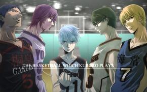 Обои спорт, очки, команда, сережка, Kise Ryouta, Kuroko Tetsuya, баскетбол куроко, Kuroko no Basket, Aomine Daiki, ...