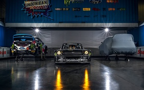 Картинка Gymkhana, 1965, Block, Hoonicorn, SEVEN, 845 hp, Monster, Ken, Front, Studio, Energy, RTR, Mustang, Ford