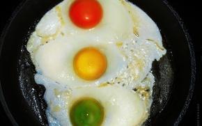 Обои цвет, яичница, светофор, вкуснятина