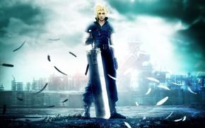 Обои мечь, парень, final fantasy