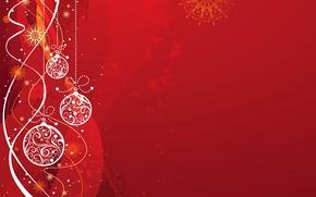 Обои вектор, Новый Год, Рождество, открытка