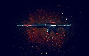 Картинка оружие, фон, винтовка, штурмовая, CS:GO