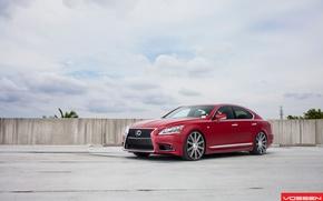 Картинка red, vossen, Lexus LS460