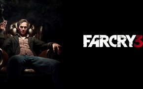 Картинка дым, кресло, сигарета, злодей, game, босс, Far cry, Хойт Волкер