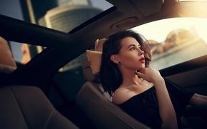 Картинка авто, девушка, макияж, Ivan Gorokhov, Alia