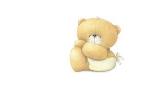 Картинка настроение, минимализм, малыш, арт, мишка, подгузник, детская, Forever Friends Deckchair bear