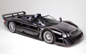 Картинка Roadster, Mercedes-Benz, GTR, Black, CLK