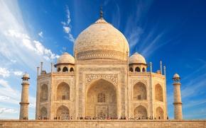 Картинка замок, Индия, памятник, храм, Taj Mahal, Тадж Махал, Agra, India, casstle, Uttar, Pradesh