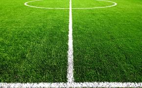 Картинка поле, трава, разметка, газон, футбол, центр