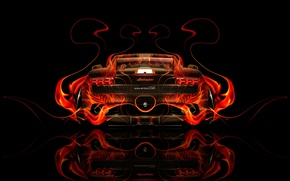 Обои Тони Кохан, Гайярдо, Абстракт, Tony Kokhan, Gallardo, Black, Огненное, Orange, Пламя, Огненная, Галлардо, el Tony ...