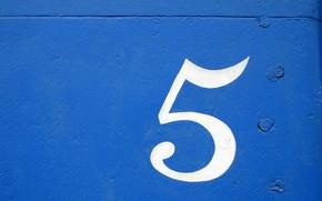 Обои фон, Текстура, cifra, sinee, blue, pyat, цифра, art, five