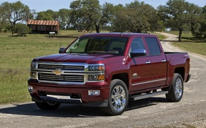 Обои chevrolet, silverado, high country, crew cab, 667, шевроле