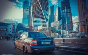 Картинка машина, авто, дома, Москва, auto, LADA, Priora, ВАЗ, БПАН, Приора
