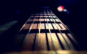 Обои музыка, гитара, струны, гриф