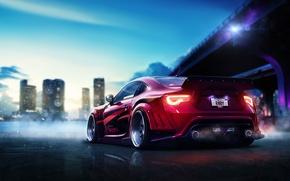 Картинка фотошоп, спорткар, Toyota GT 86