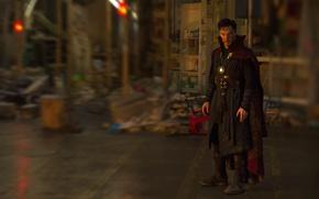Картинка wallpaper, blood, Disney, magic, man, Marvel, hero, cover, Marvel Comics, Benedict Cumberbatch, medallion, powerful, strong, …