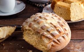 Обои натюрморт, посуда, хлеб