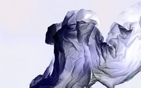 Картинка синий, абстракция, минимализм