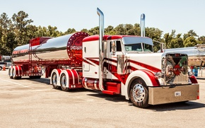 Обои custom, truck, big rig, peterbilt