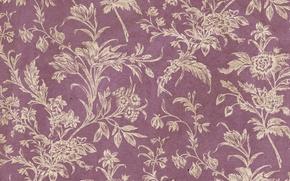 Картинка фон, wallpaper, орнамент, vintage, texture, цветочный, pattern, paper, floral
