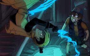 Картинка страх, магия, мальчик, арт, ужас, парень, Gravity Falls, Dipper Pines, Bill Cipher, xShieru