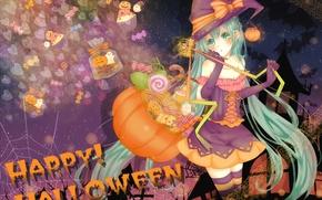 Картинка девушка, праздник, vocaloid, halloween, miku, hatsune