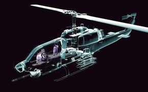 Картинка линии, вертолет, прорисовка